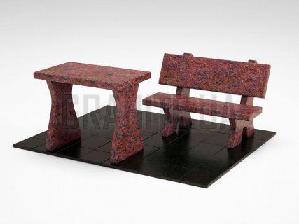 Лавка + Стіл LS-10 Кишинський граніт