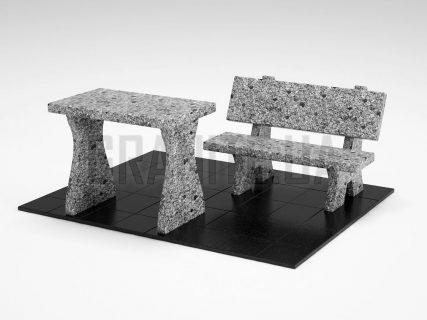 Лавка + Стіл LS-10 Костянтинівський граніт