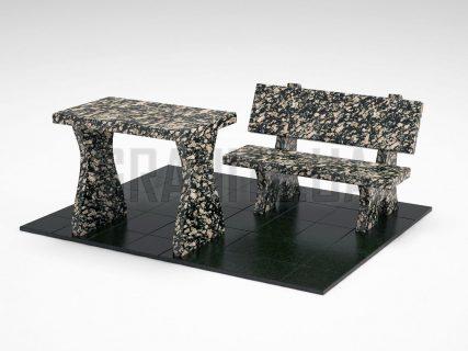 Лавка + Стіл LS-10 Корнинський граніт