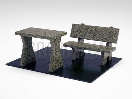 Лавка + Стіл LS-10 Маславський граніт