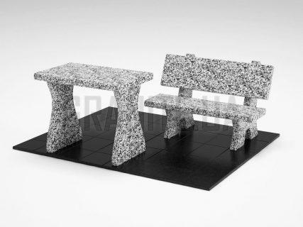 Лавка + Стіл LS-10 Покостівський граніт