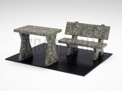 Лавка + Стіл LS-10 Рогівський граніт