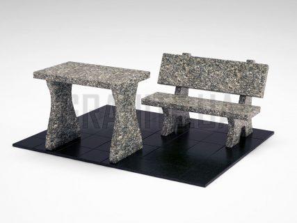 Лавка + Стіл LS-10 Танський граніт