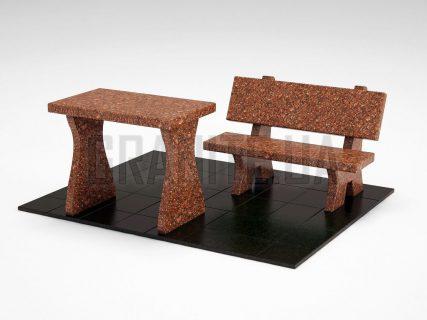 Лавка + Стіл LS-10 Токівський граніт