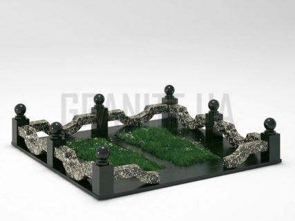 Могильна огорожа OG-01 Корнинський граніт