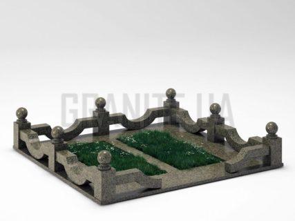 Могильна огорожа OG-01 Маславський граніт
