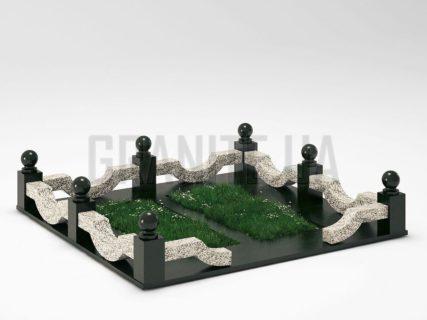 Могильна огорожа OG-01 Покостівський граніт