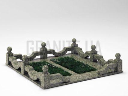 Могильна огорожа OG-01 Рогівський граніт