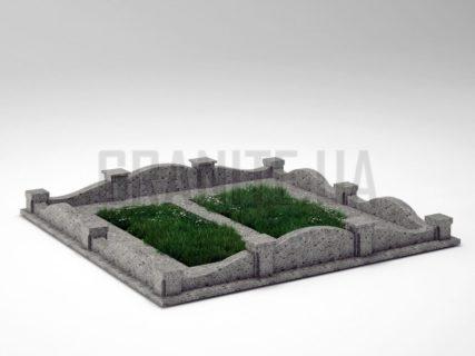 Могильна огорожа OG-03 Костянтинівський граніт