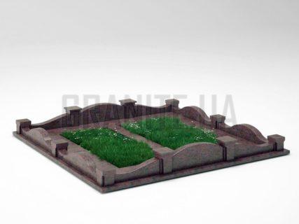 Могильна огорожа OG-03 Кишинський граніт