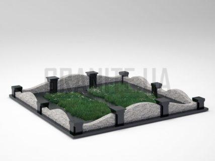 Могильна огорожа OG-03 Покостівський граніт