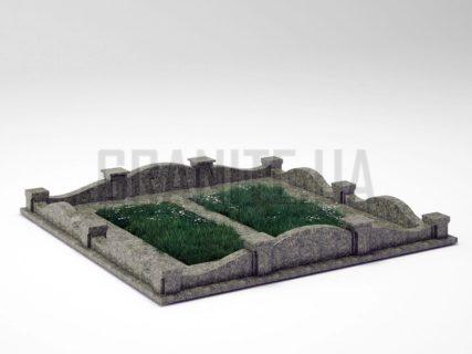 Могильна огорожа OG-03 Рогівський граніт