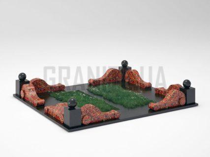 Могильна огорожа OG-05 Капустинський граніт