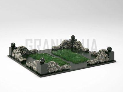 Могильна огорожа OG-05 Корнинський граніт