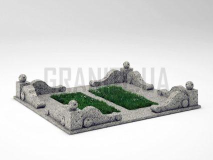 Могильна огорожа OG-05 Костянтинівський граніт