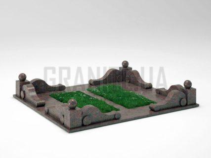 Могильна огорожа OG-05 Кишинський граніт