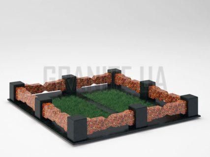Могильна огорожа OG-06 Капустинський граніт