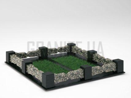 Могильна огорожа OG-06 Корнинський граніт