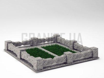 Могильна огорожа OG-06 Костянтинівський граніте