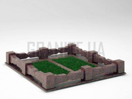 Могильна огорожа OG-06 Кишинський граніт