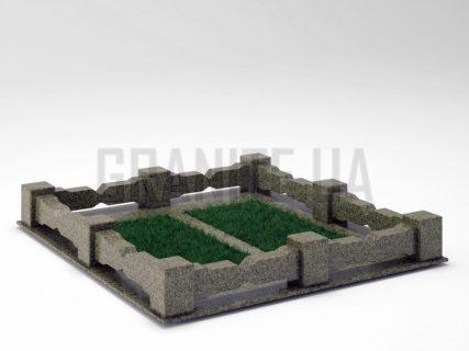 Могильна огорожа OG-06 Маславський граніт