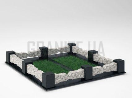 Могильна огорожа OG-06 Покостівський граніт