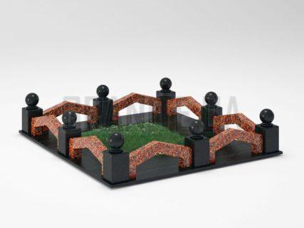 Могильна огорожа OG-07 Капустинський граніт