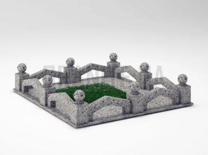 Могильна огорожа OG-07 Костянтинівський граніт