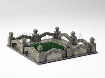 Могильна огорожа OG-07 Рогівський граніт