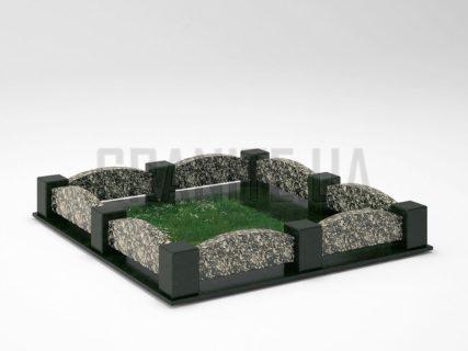 Могильна огорожа OG-08 Корнинський граніт