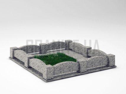 Могильна огорожа OG-08 Костянтинівський граніт
