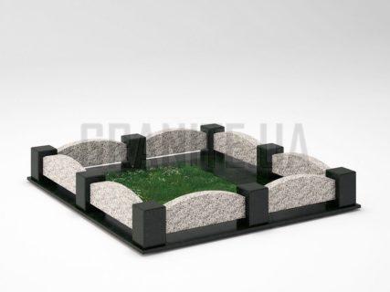 Могильна огорожа OG-08 Покостівський граніт
