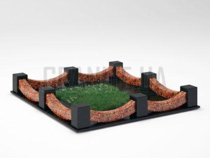 Могильна огорожа OG-09 Капустинський граніт