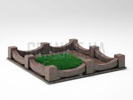 Могильна огорожа OG-09 Кишинський граніт