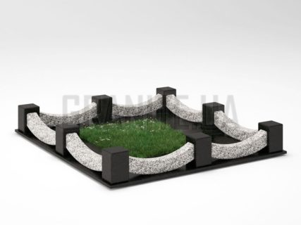 Могильна огорожа OG-09 Покостівський граніт