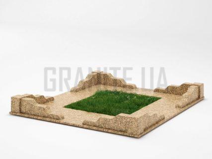 Могильна огорожа OG-10 Дідковицький граніт