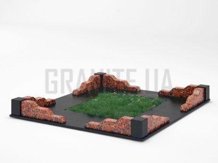 Могильна огорожа OG-10 Капустинський граніт
