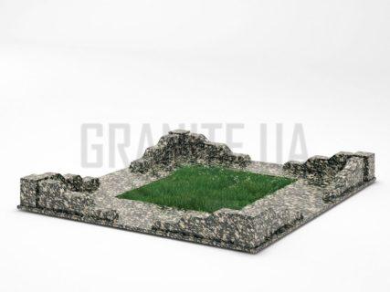 Могильна огорожа OG-10 Корнинський граніт