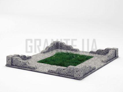 Могильна огорожа OG-10 Костянтинівський граніт