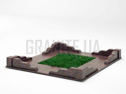 Могильна огорожа OG-10 Кишинський граніт