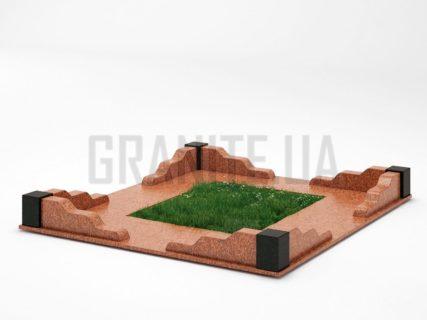 Могильна огорожа OG-10 Лезниківський граніт
