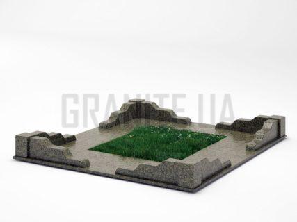 Могильна огорожа OG-10 Маславський граніт