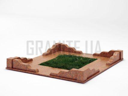 Могильна огорожа OG-10 Новоданилівський граніт