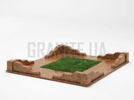 Могильна огорожа OG-10 Омел'янівський граніт