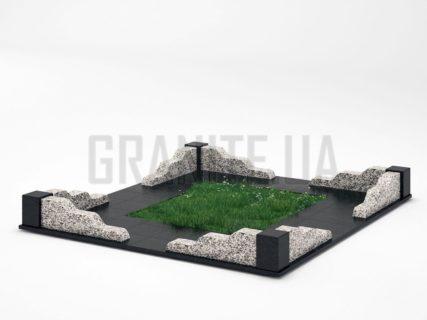 Могильна огорожа OG-10 Покостівський граніт