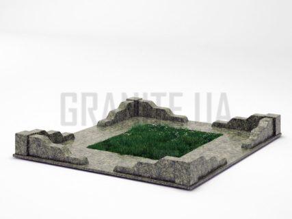 Могильна огорожа OG-10 Рогівський граніт