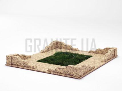 Могильна огорожа OG-10 Софіївський граніт