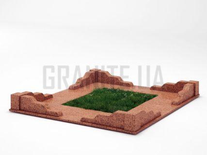 Могильна огорожа OG-10 Симонівський граніт