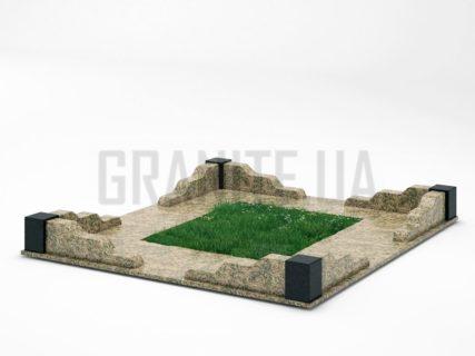 Могильна огорожа OG-10 Василівський граніт