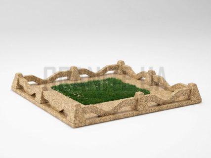 Могильна огорожа OG-11 Дідковицький граніт